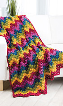 Reversible Popcorn Ripple Afghan in Crochet World magazine Oct. 2013