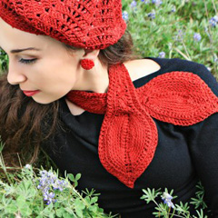 Jennifer Hansen's Tunisian Keyhole Cravat from Stitch Diva Studios