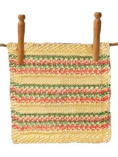 Slip-Stitch Washcloth from book