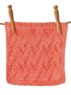 Zigzags Washcloth from book