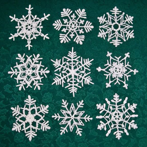 How To Stiffen Crocheted Snowflakes Tutorial