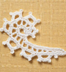 Irish crochet scroll