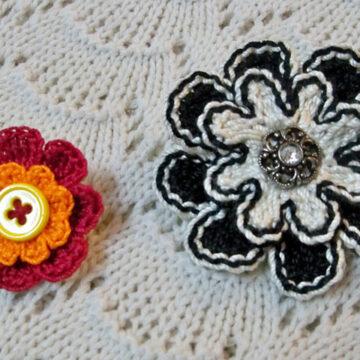 Button Flower Pins1