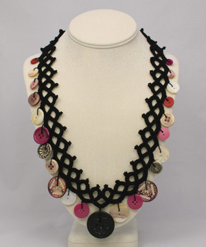Faux Tatted Crochet Necklace