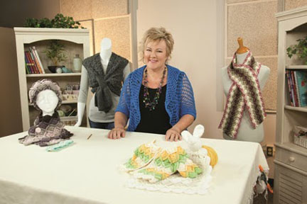 Jenny King in her Bavarian Crochet class