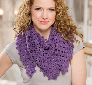 Broomstick Lace Shawlette