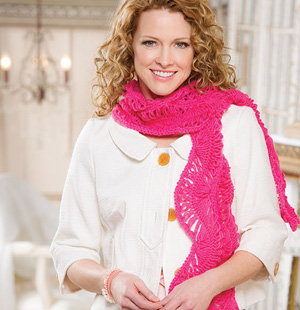 Gentle Waves Hairpin Lace Scarf
