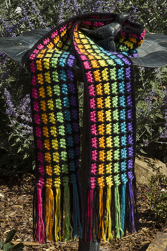 Easy Rainbow Scarf