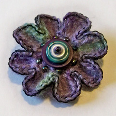 Button Flower Pin
