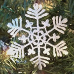 Stiffened Snowflake Ornament 1