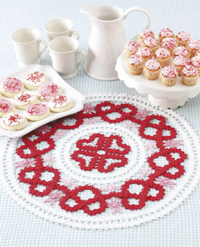 Bruges Lace Heart Centerpiece