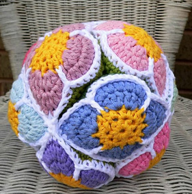 Amish Crochet Flower Puzzle Ball