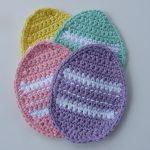 crochet egg coaster