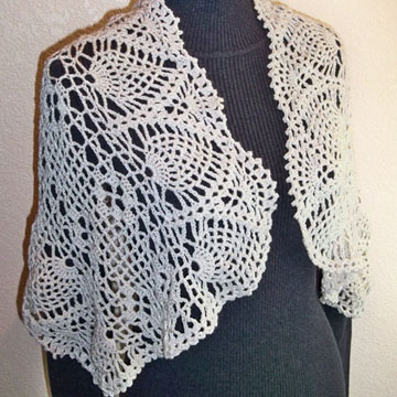 Mom's Keepsake Lace Shawl front
