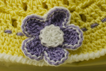 Flower on Baby Sun Hat pattern