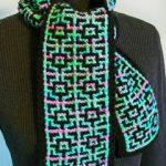 mosaic knit scarf