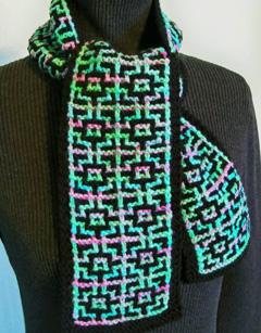 Knit Mosaic Scarf