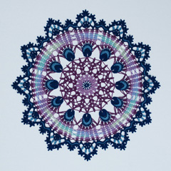 24 Free Spirit Doily by Kathryn White