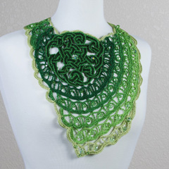 37 Ombre Celtic Knot Necklace by Jennifer E. Ryan