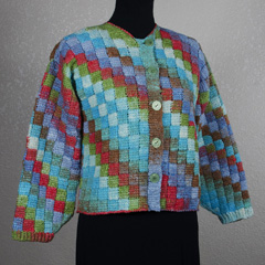 43 Checkerboard Cardigan by Shari White
