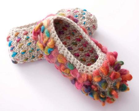 Thrummed Slippers close up