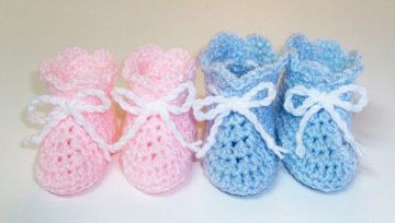 Baby Booties for my first grandchild