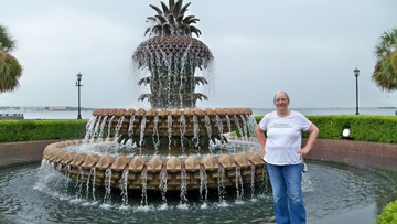 Pineapple Fountain and Jane