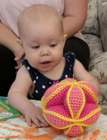 Amish Puzzle Ball with Ru