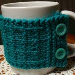 knit cup cozy
