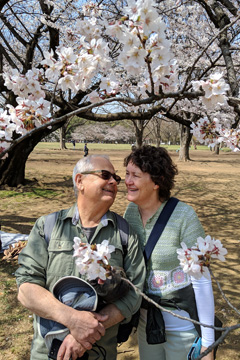 Jim and Susan at Yoyogi Park