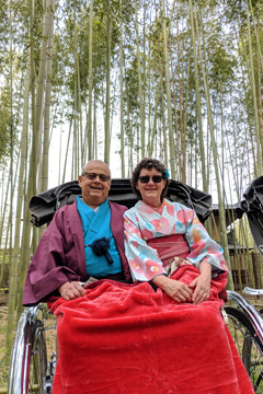 Jim and Susan in rickshaw