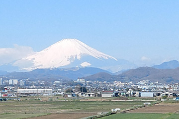 Mt Fuji from train