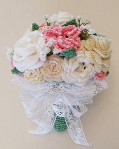 crochet bridal bouquet