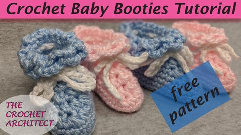 Crochet Baby Booties Tutorial
