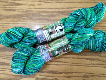 Hanks of yarn from guild