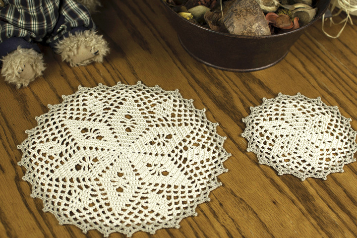 Star Doily and Coaster Set