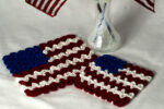 Wiggly July 4th Flag Hot Pad & Coaster