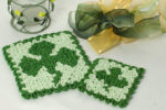 Wiggly Shamrock Hot Pad & Coaster