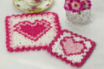 Wiggly Valentine Hot Pad & Coaster