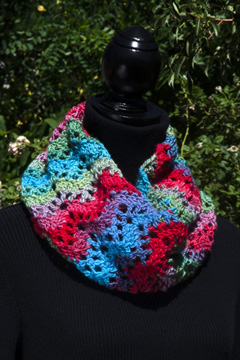 Unforgettable Ripple Cowl worn doubled