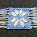 Tapestry Crochet Snowflake Coaster