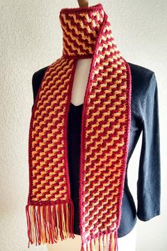 overlay mosaic crochet scarf