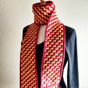 mosaic crochet scarf